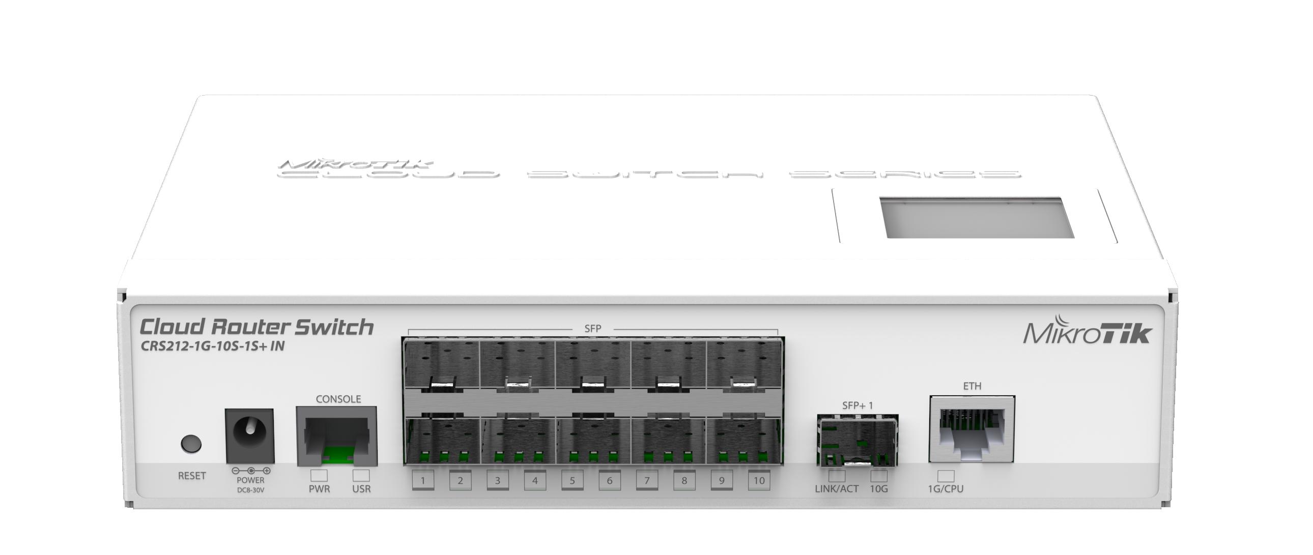 Switch Mikrotik CRS212-1G-10S-1SIN 10xSFP 1xSFP+ 1xLAN