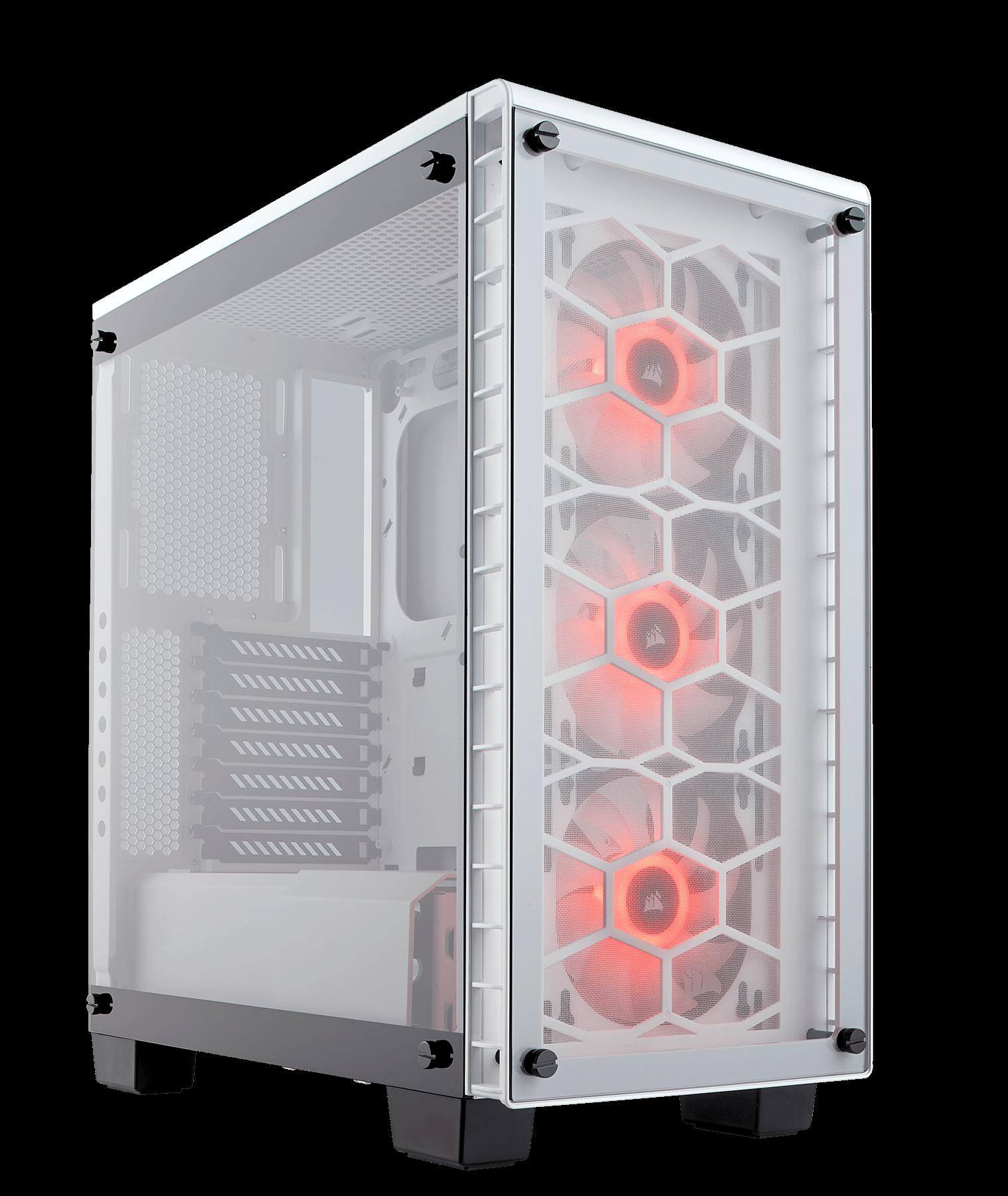 Carcasa PC Corsair Crystal 460X RGB Compact Alb