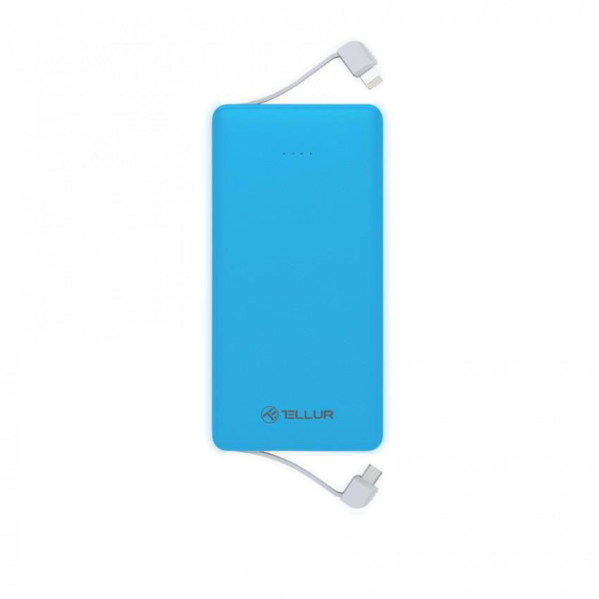 Baterie Externa Tellur 3 in 1 5000 mAh Albastru