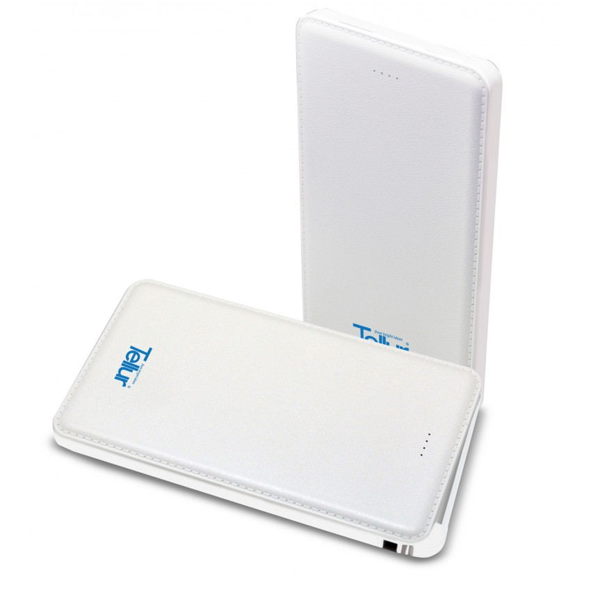 Baterie Externa Tellur Super Slim Line 5000 mAh Alb