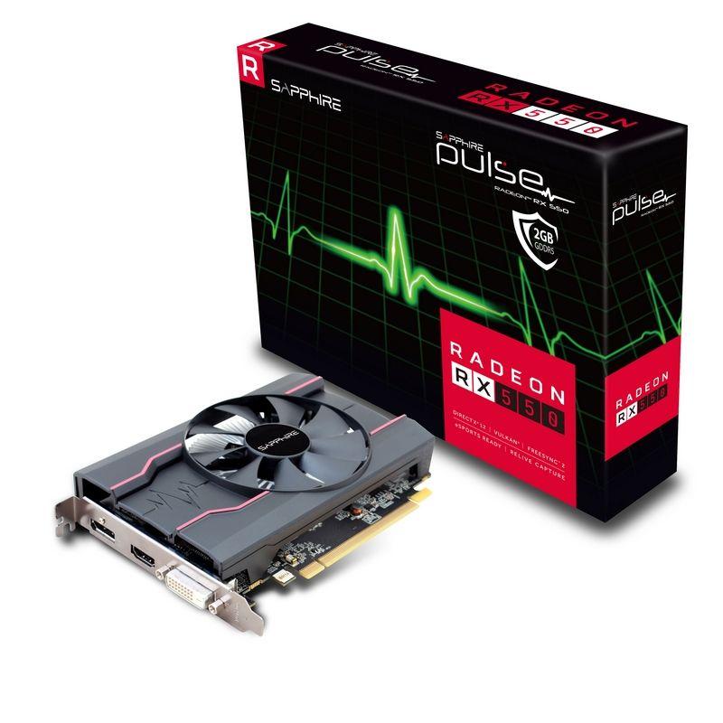 Placa Video Sapphire Radeon RX 550 PULSE 2GB GDDR5 128 biti