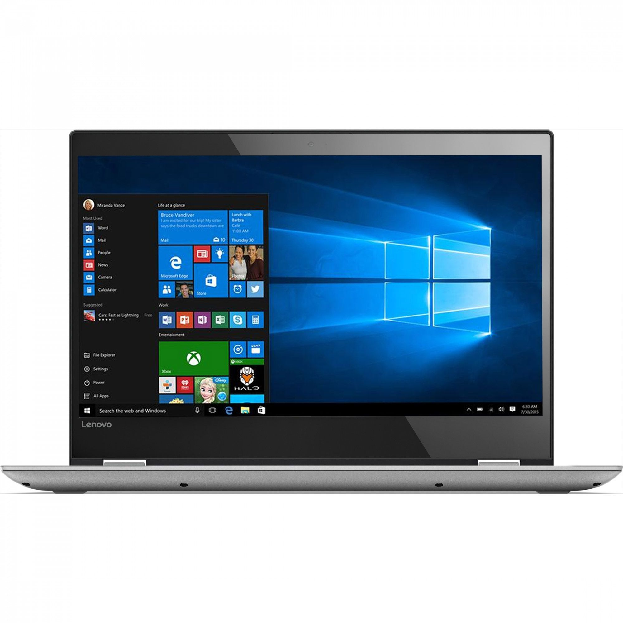 Ultrabook Lenovo Yoga 520 14 Full HD Touch Intel Core i3-7130U RAM 8GB HDD 1TB + SSD 128GB Windows 10 Home Gri