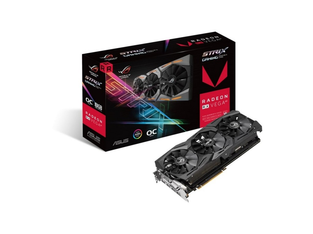 Placa Video ASUS ROG Strix RX Vega 64 OC 8GB HBM2 2048 biti