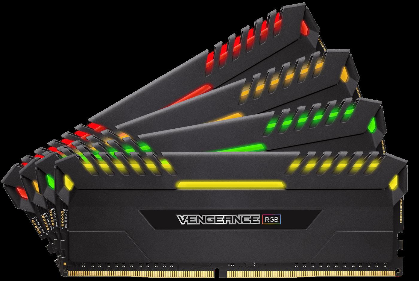 Memorie Desktop Corsair Vengeance RGB 64GB(4 x 16GB) DDR4 3466MHz