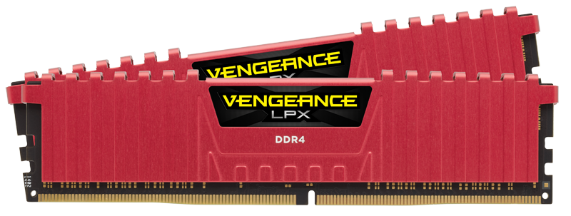 Memorie Desktop Corsair Vengeance LPX 16GB(2 x 8GB) DDR4 4333MHz Red