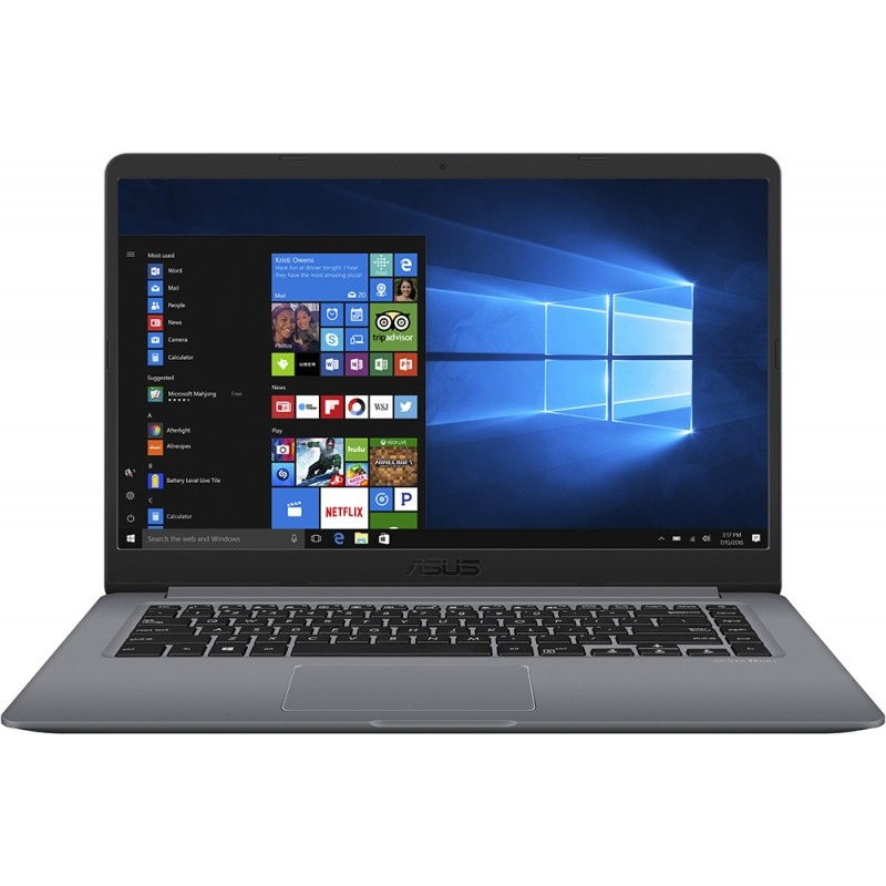 Notebook Asus VivoBook S510UN 15.6 Full HD Intel Core i7-8550U MX150-2GB RAM 8GB HDD 1TB Endless OS