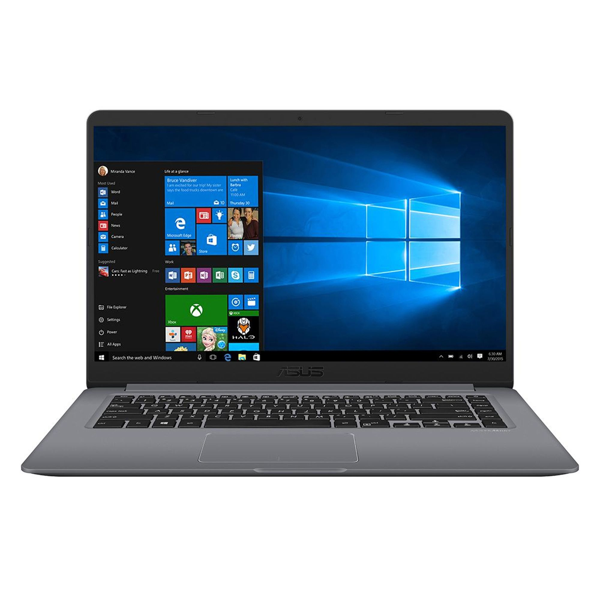 Notebook Asus VivoBook S15 S510UA 15.6 Full HD Intel Core i5-8250U RAM 4GB HDD 500GB Windows 10 Pro Gri