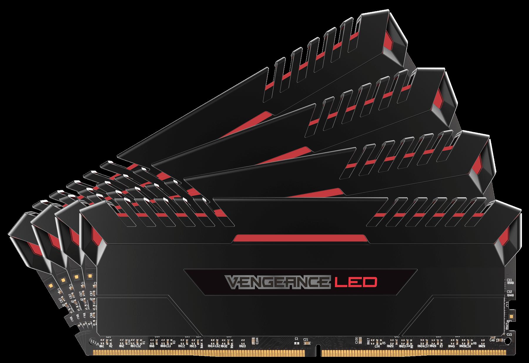 Memorie Desktop Corsair Vengeance LED 32GB(4 x 8GB) DDR4 3200MHz Red