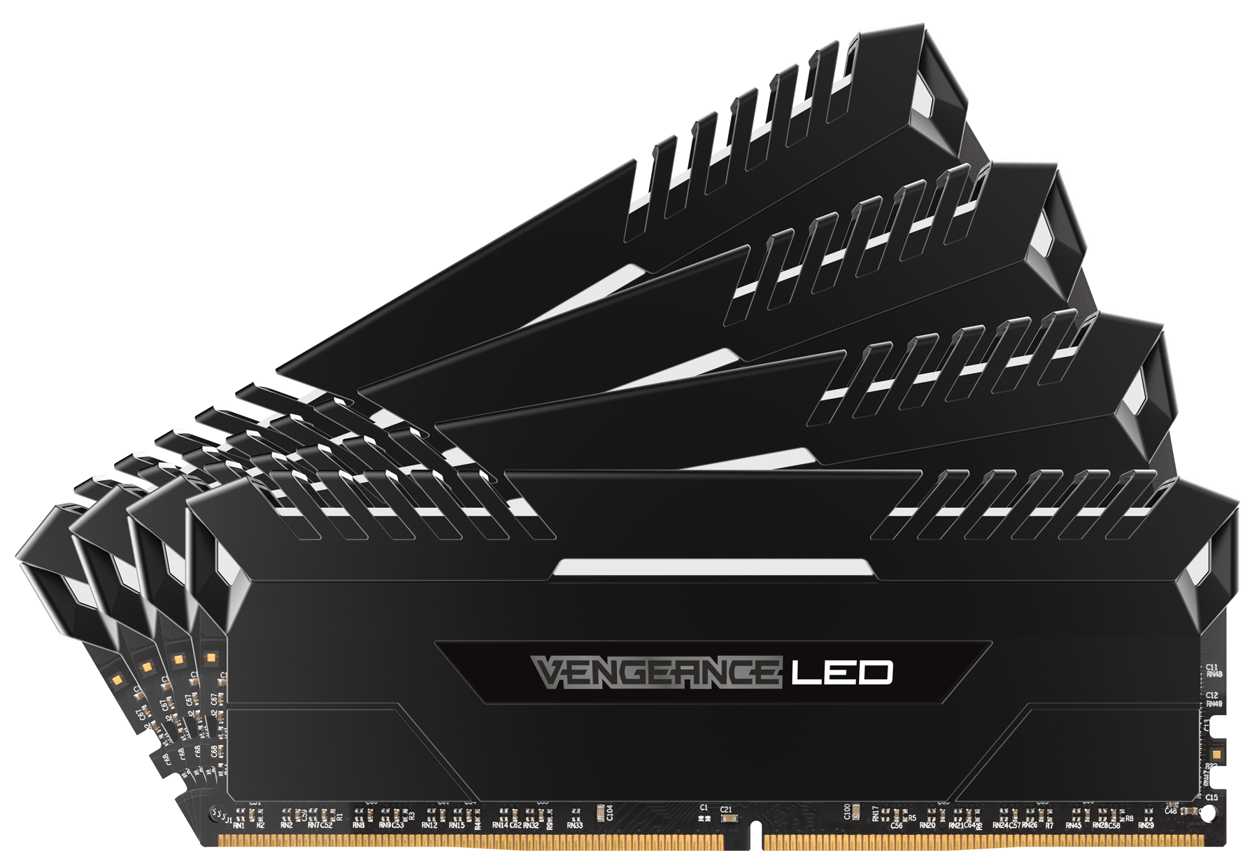 Memorie Desktop Corsair Vengeance LED 32GB(4 x 8GB) DDR4 3000MHz White