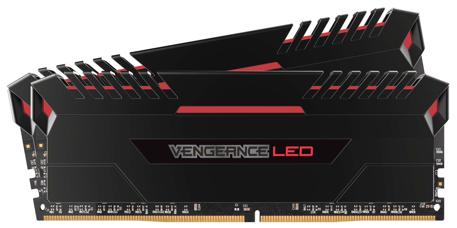 Memorie Desktop Corsair Vengeance LED 16GB(2 x 8GB) DDR4 3000MHz Red