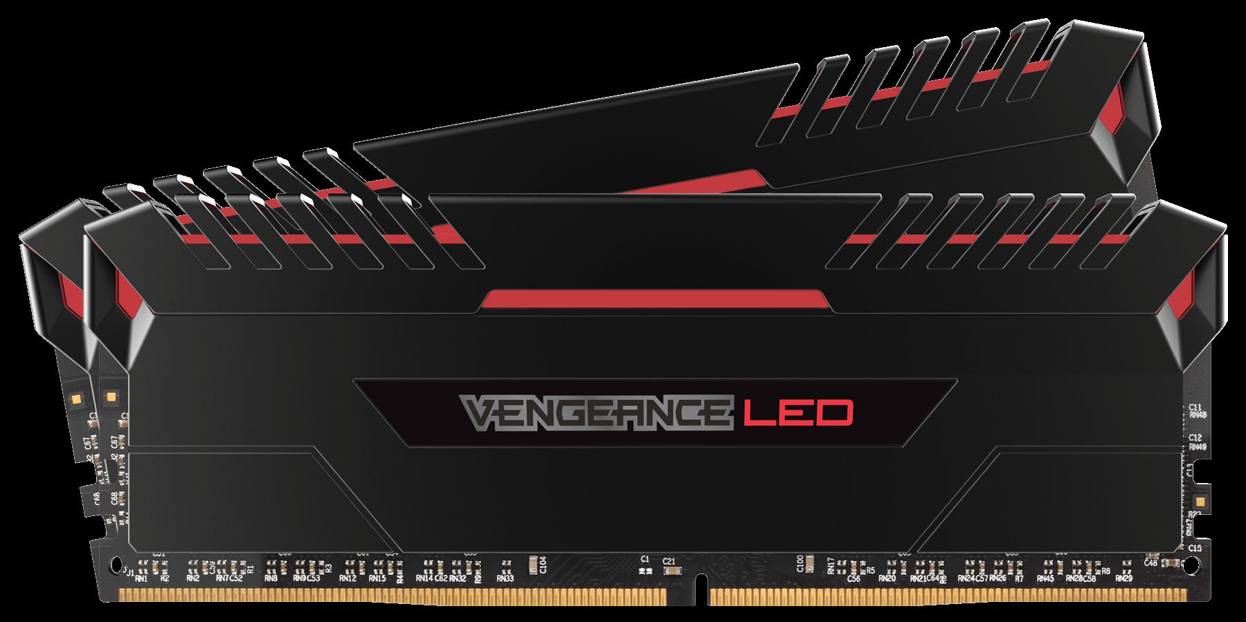 Memorie Desktop Corsair Vengeance LED 16GB(2 x 8GB) DDR4 3000MHz Red