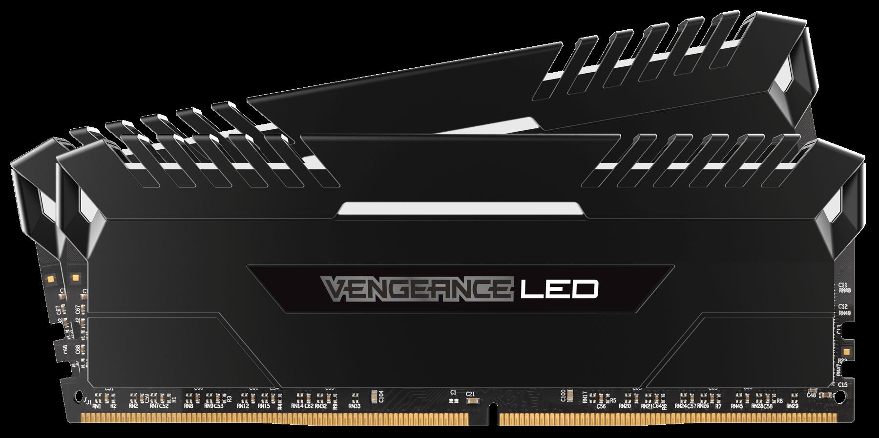 Memorie Desktop Corsair Vengeance LED 16GB(2 x 8GB) DDR4 3000MHz White