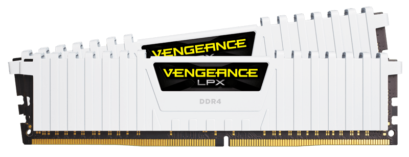 Memorie Desktop Corsair Vengeance LPX 16GB(2 x 8GB) DDR4 3000MHz White