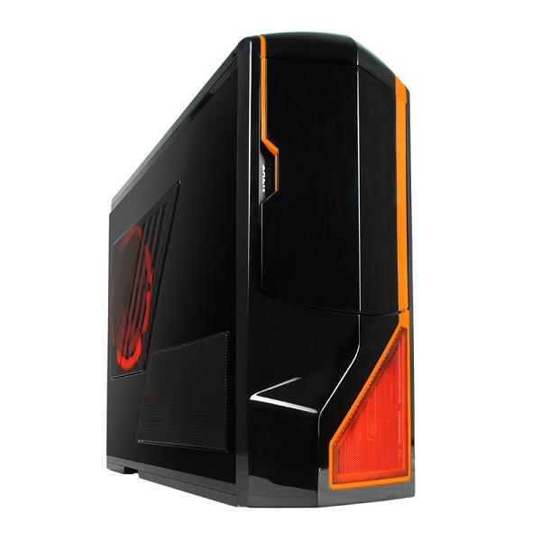 Carcasa PC NZXT Phantom Black/Orange Trim