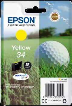 Cartus Inkjet Epson SinglePack Yellow 34 DURABrite 300 pagini