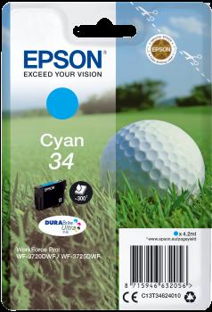Cartus Inkjet Epson SinglePack Cyan 34 DURABrite 300 pagini