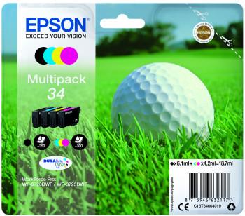 Cartus Inkjet Epson MultiPack 34 DURABrite