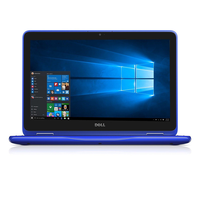 Ultrabook Dell Inspiron 3168 11.6 HD Touch Intel Pentium N3710 RAM 4GB SSD 128GB Windows 10 Home Albastru
