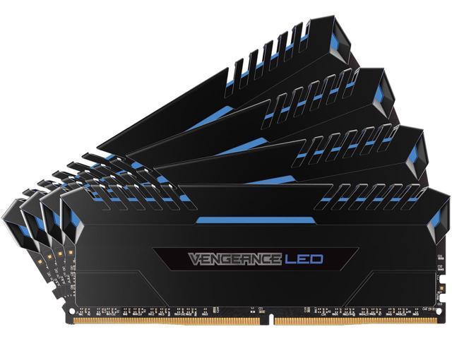 Memorie Desktop Corsair Vengeance LED 32GB(4 x 8GB) DDR4 3000MHz Blue