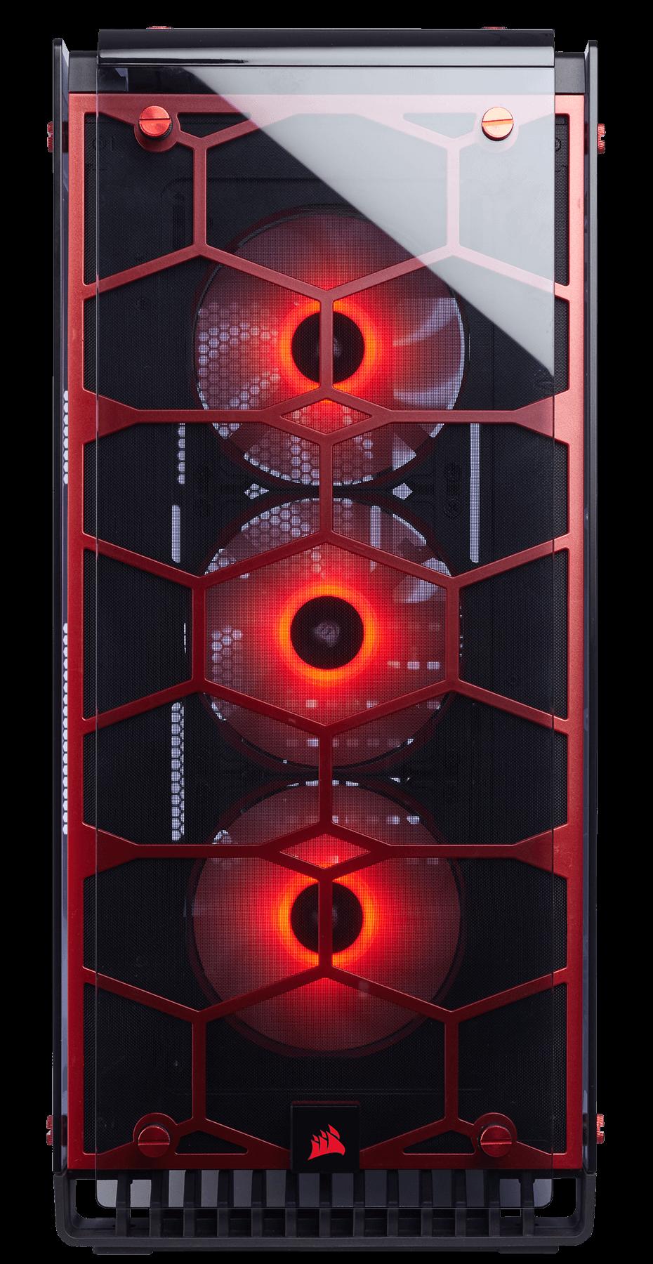 Carcasa P Corsair Crystal Series 570X RGB Tempered Glass Red