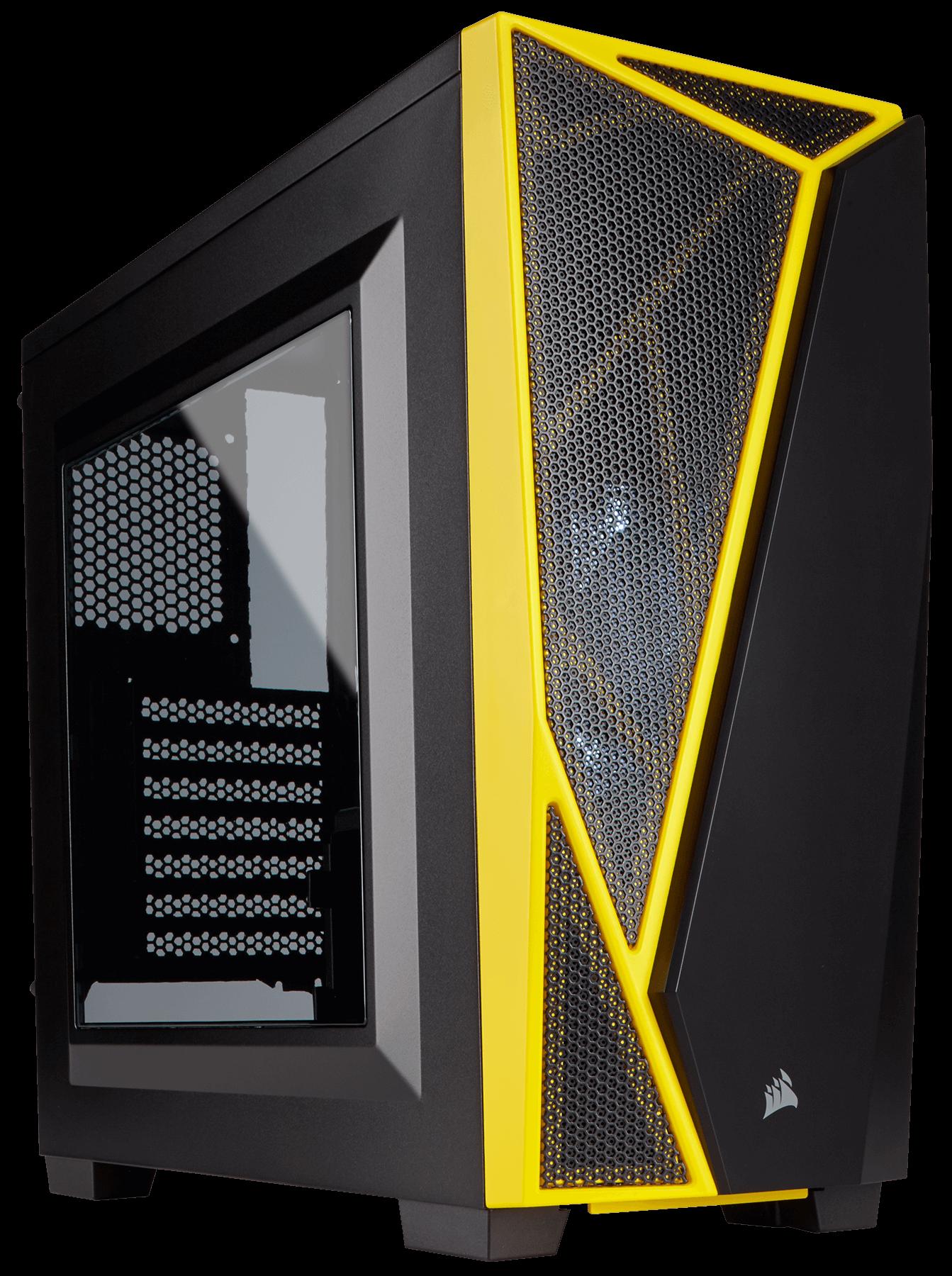 Carcasa PC Corsair Carbide Series SPEC-04 Windowed Black/Yellow