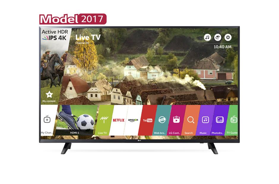 Televizor LED LG Smart TV 43UJ620V 108cm 4K UHD HDR Negru