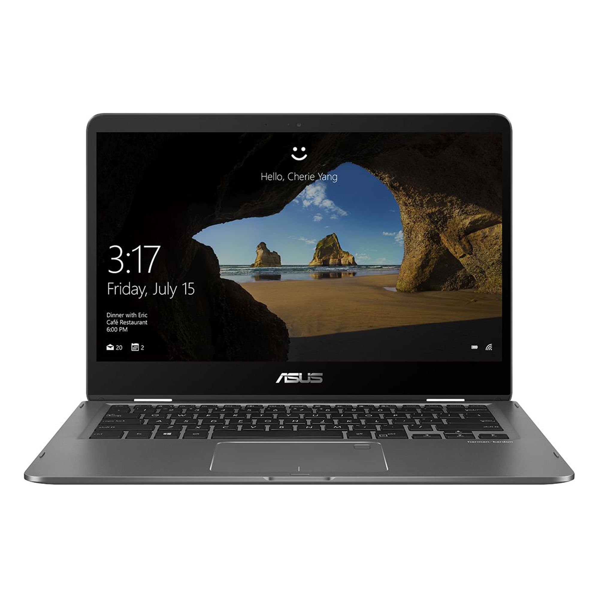Ultrabook Asus ZenBook Flip UX461UN 14 Full HD Touch Intel Core i7-8550 MX150-2GB RAM 8GB SSD 512GB Windows 10 Home Gri