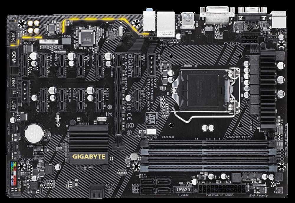Placa de baza Gigabyte B250-FinTech Socket B250