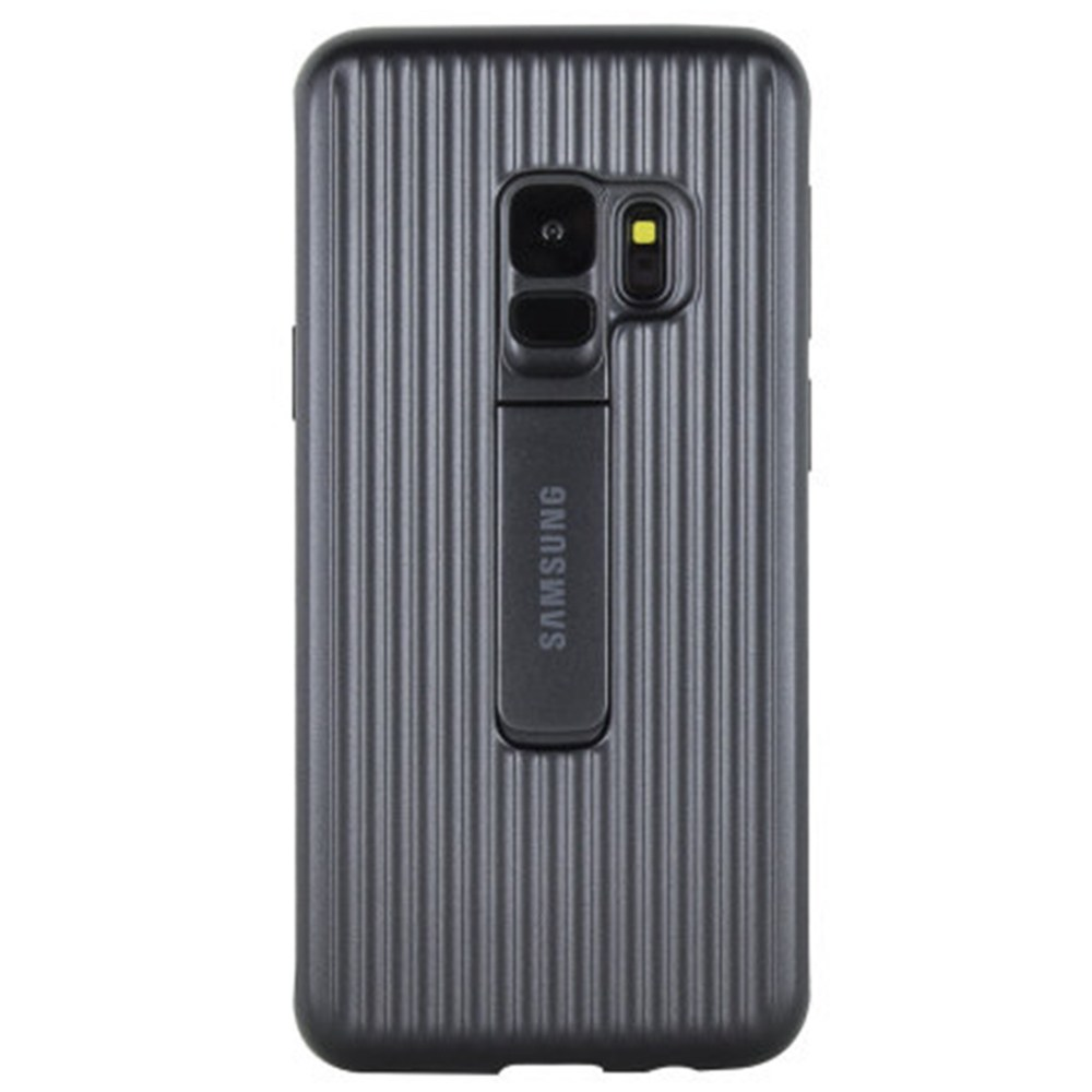 Capac protectie spate Protective Cover Samsung EF-RG960 pentru Galaxy S9 G960 Black title=Capac protectie spate Protective Cover Samsung EF-RG960 pentru Galaxy S9 G960 Black