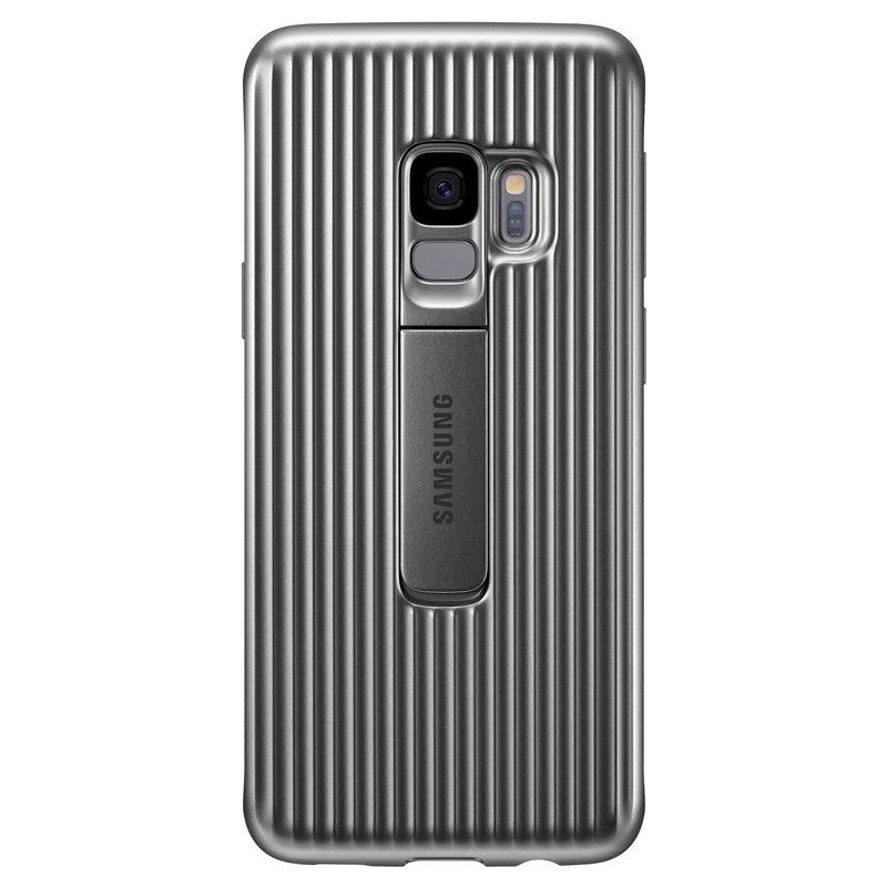 Capac protectie spate Protective Cover Samsung EF-RG960 pentru Galaxy S9 G960 Silver