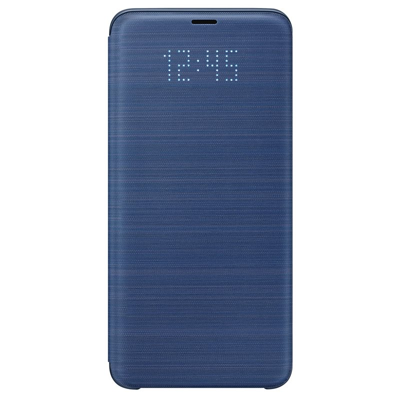 Husa LED Flip Wallet Samsung EF-NG965 pentru Samsung Galaxy S9 Plus G965 Blue