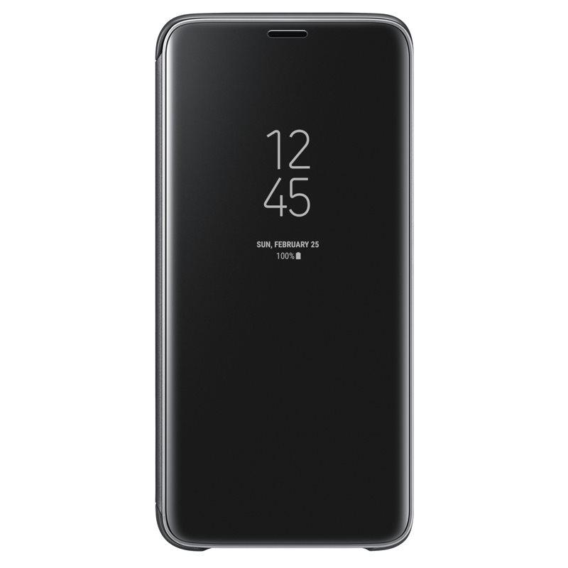 Husa Clear View Cover Samsung EF-ZG960 pentru Samsung Galaxy S9 G960 Black title=Husa Clear View Cover Samsung EF-ZG960 pentru Samsung Galaxy S9 G960 Black