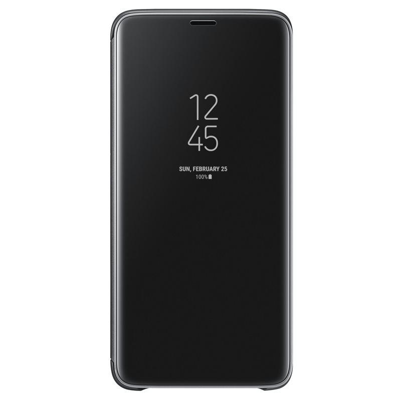 Husa Clear View Cover Samsung EF-ZG965 pentru Samsung Galaxy S9 Plus G965 Black title=Husa Clear View Cover Samsung EF-ZG965 pentru Samsung Galaxy S9 Plus G965 Black