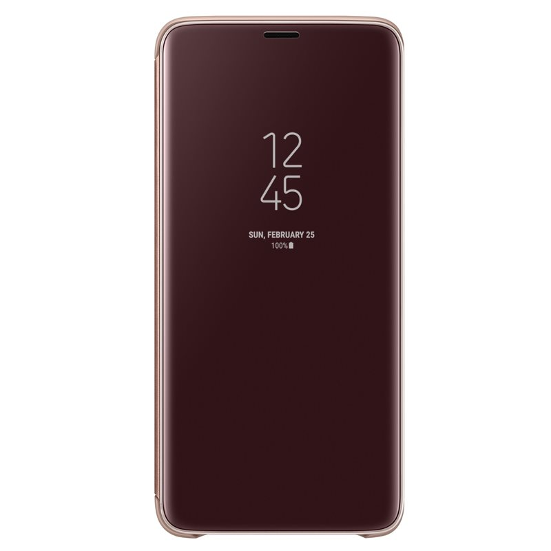 Husa Clear View Cover Samsung EF-ZG965 pentru Samsung Galaxy S9 Plus G965 Gold title=Husa Clear View Cover Samsung EF-ZG965 pentru Samsung Galaxy S9 Plus G965 Gold