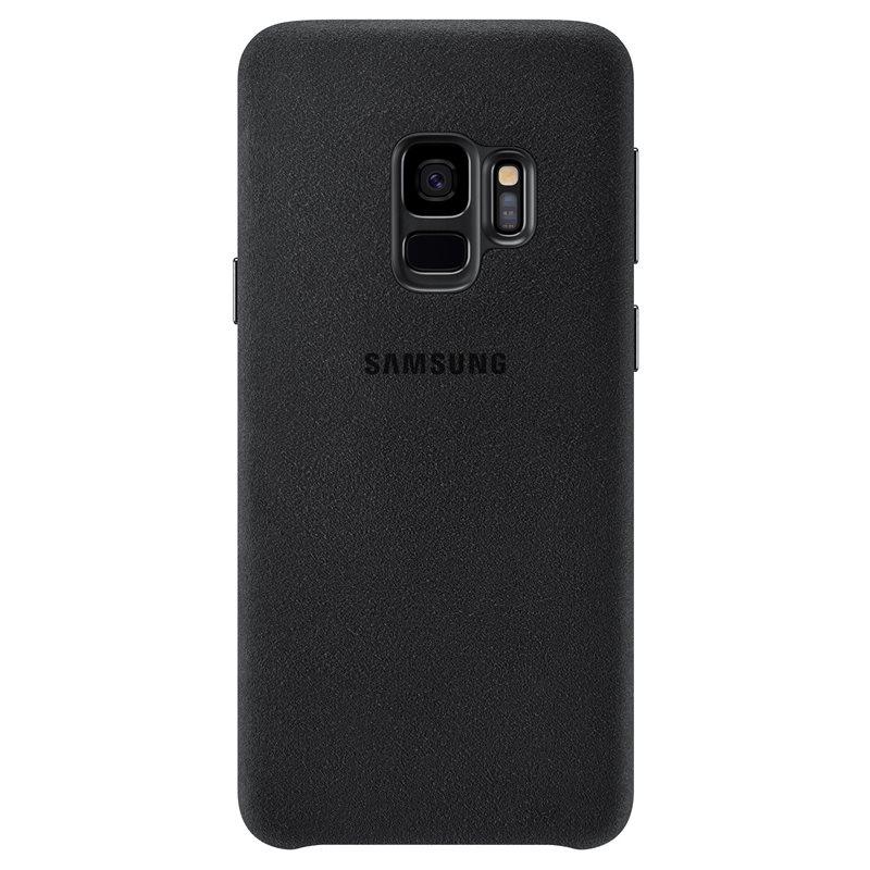 Capac protectie spate Alcantara Cover Samsung EF-XG960 pentru Galaxy S9 G960 Black title=Capac protectie spate Alcantara Cover Samsung EF-XG960 pentru Galaxy S9 G960 Black