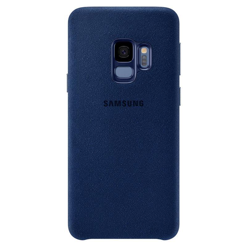 Capac protectie spate Alcantara Cover Samsung EF-XG960 pentru Galaxy S9 G960 Blue