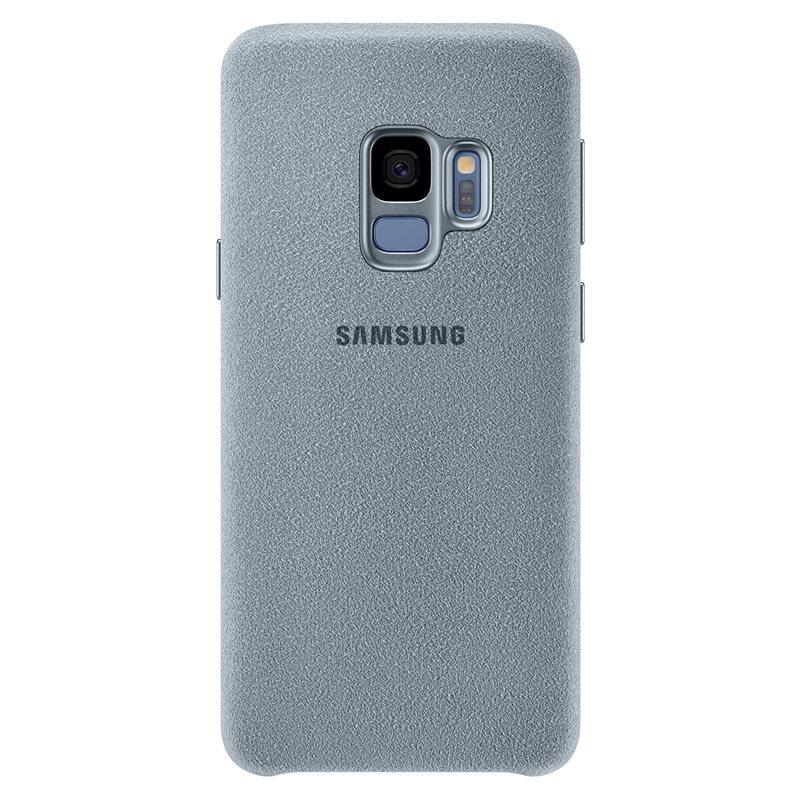 Capac protectie spate Alcantara Cover Samsung EF-XG960 pentru Galaxy S9 G960 Mint