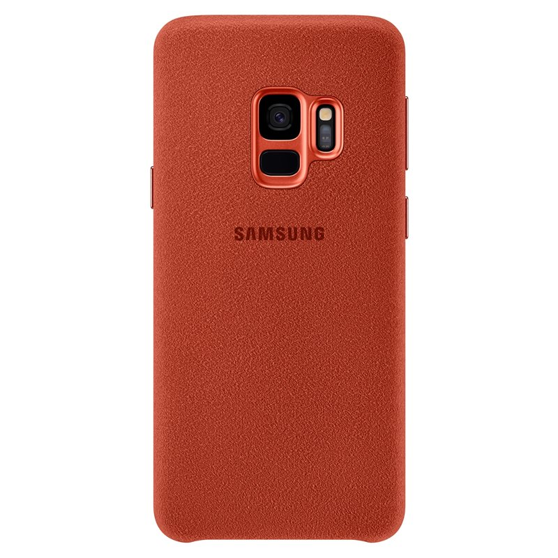 Capac protectie spate Alcantara Cover Samsung EF-XG960 pentru Galaxy S9 G960 Red