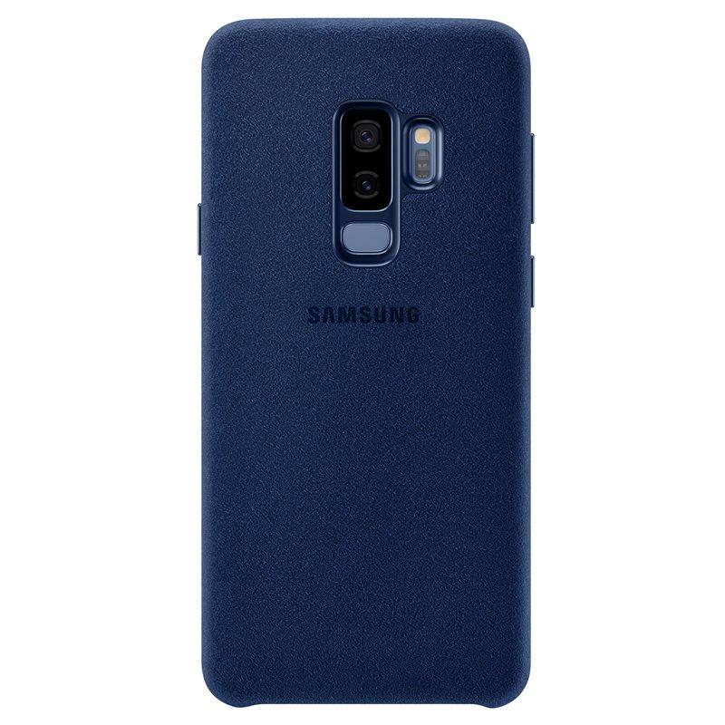 Capac protectie spate Alcantara Cover Samsung EF-XG965 pentru Galaxy S9 Plus G965 Blue