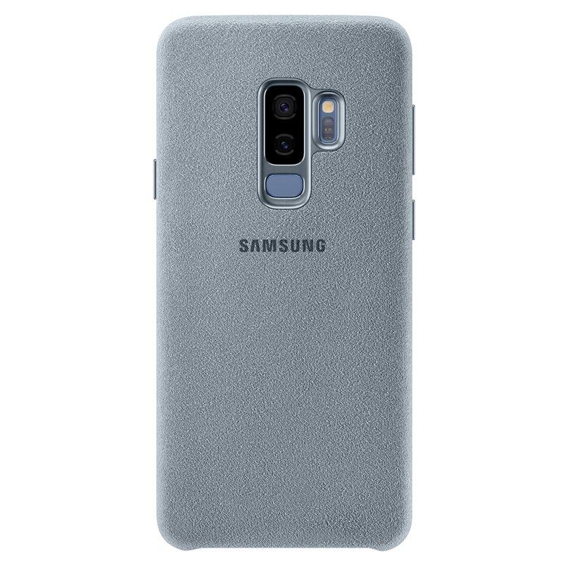Capac protectie spate Alcantara Cover Samsung EF-XG965 pentru Galaxy S9 Plus G965 Mint
