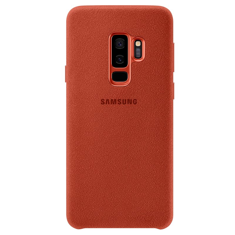Capac protectie spate Alcantara Cover Samsung EF-XG965 pentru Galaxy S9 Plus G965 Red