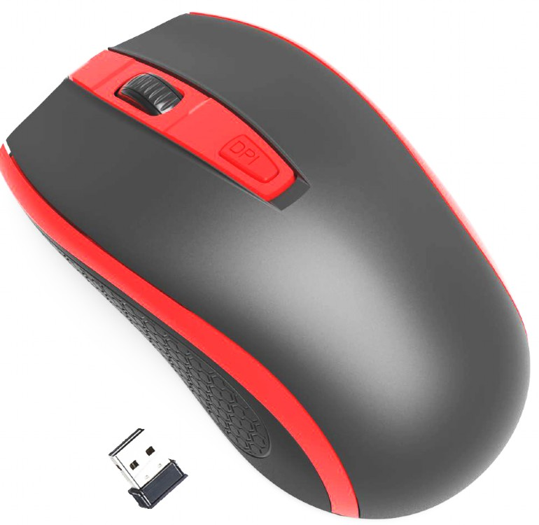 Mouse Gembird MUSW-107-R Wireless Negru/Rosu title=Mouse Gembird MUSW-107-R Wireless Negru/Rosu