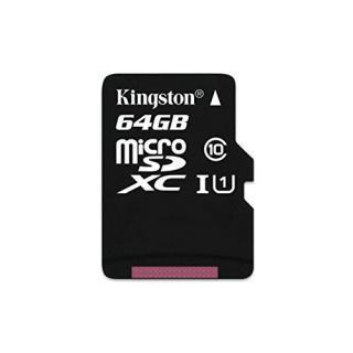 Card de memorie Kingston microSDXC Canvas Select 80R 64GB CL10 fara adaptor