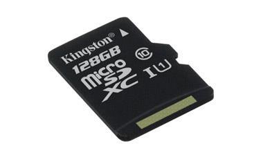 Card de memorie Kingston microSDXC Canvas Select 80R 128GB CL10 fara adaptor
