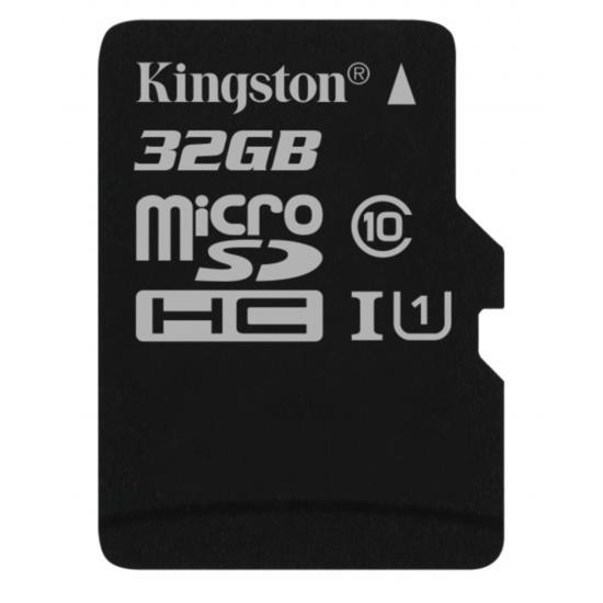 Card de memorie Kingston microSDHC Canvas Select 80R 32GB CL10 fara adaptor