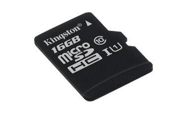Card de memorie Kingston microSDHC Canvas Select 80R 16GB CL10 fara adaptor