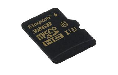 Card de memorie Kingston microSDHC Gold 32GB UHS-I Speed Class 3(U3) fara adaptor