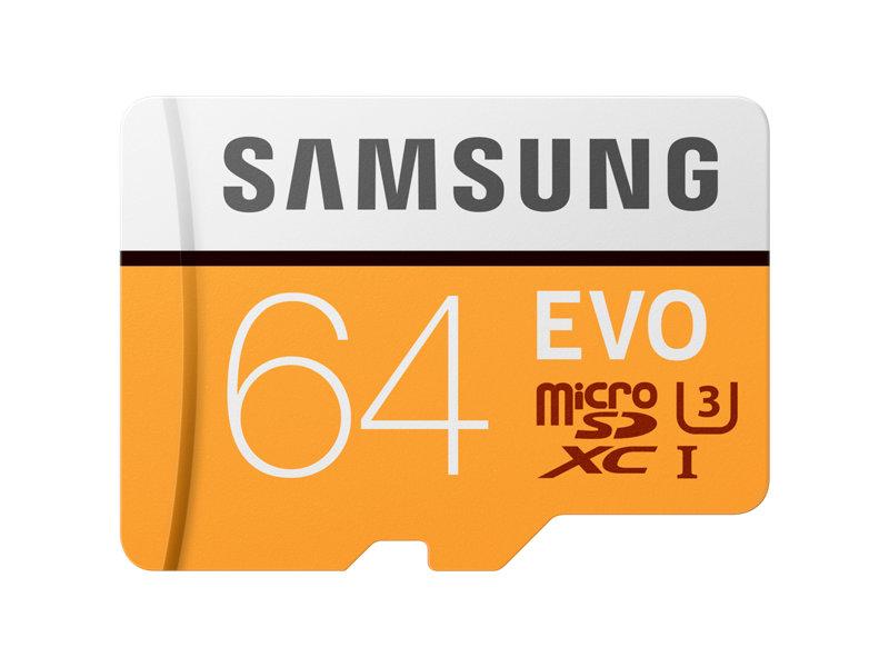 Card de memorie Samsung EVO MicroSDXC 64GB Clasa 10