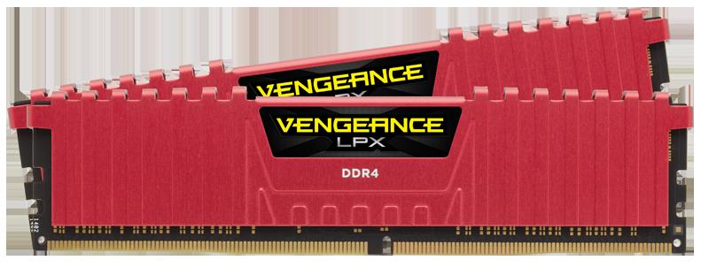 Memorie Desktop Corsair Vengeance LPX 16GB(2 x 8GB) DDR4 3733MHz Red