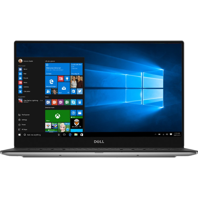 Ultrabook Dell XPS 13 9360 13.3 QHD+ Touch Intel Core i5-7300U RAM 8GB SSD 256GB Windows 10 Pro Argintiu